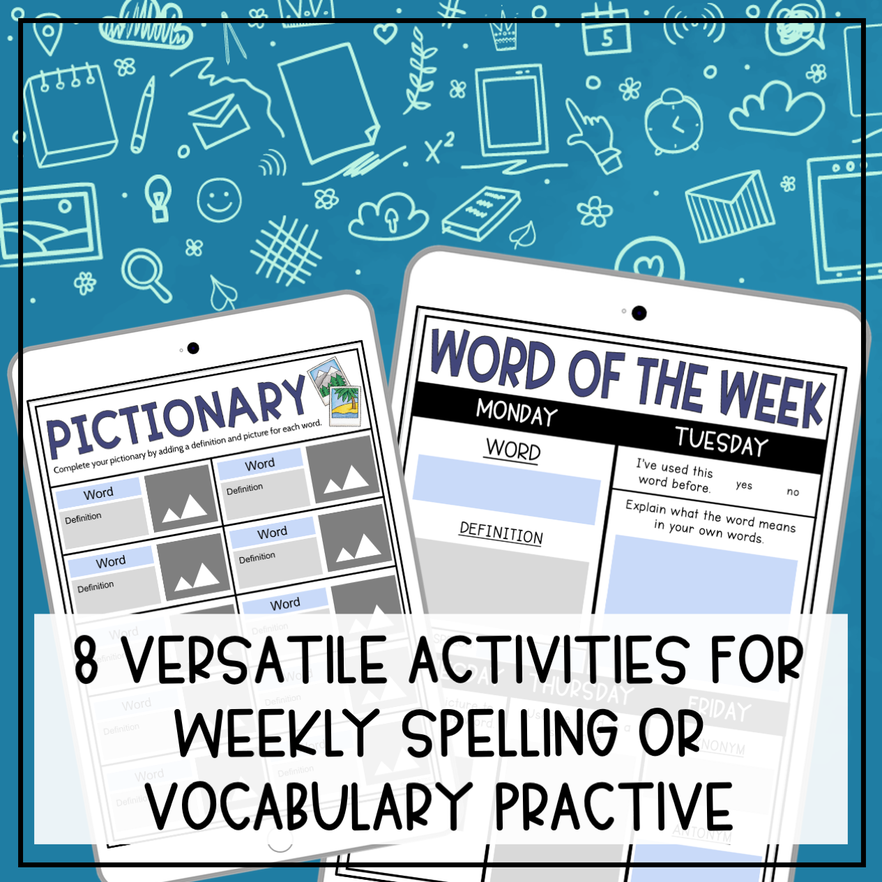 Weekly Vocabulary Activities