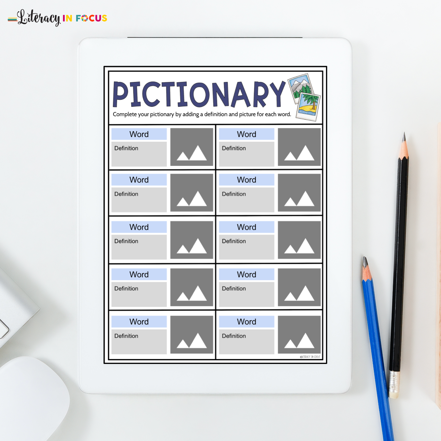 Visual Dictionary Template