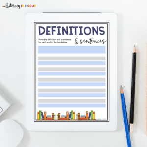 Spelling Definition Template