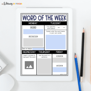 Word of the Week Template
