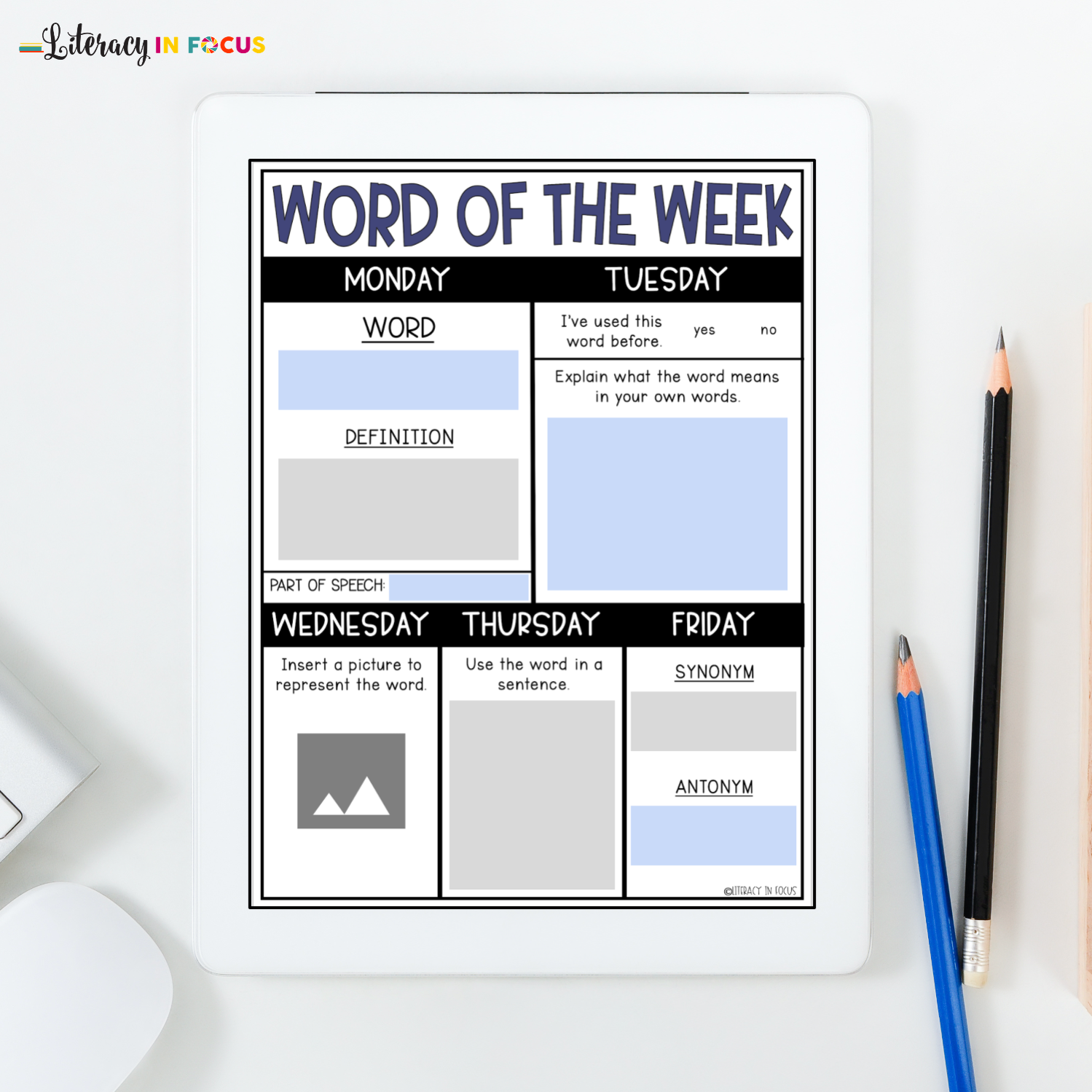 Word of the Week Template