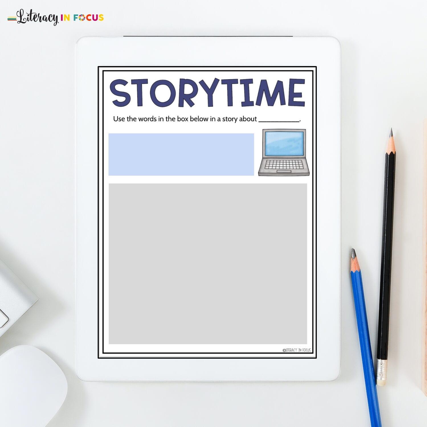 Story Vocabulary Template