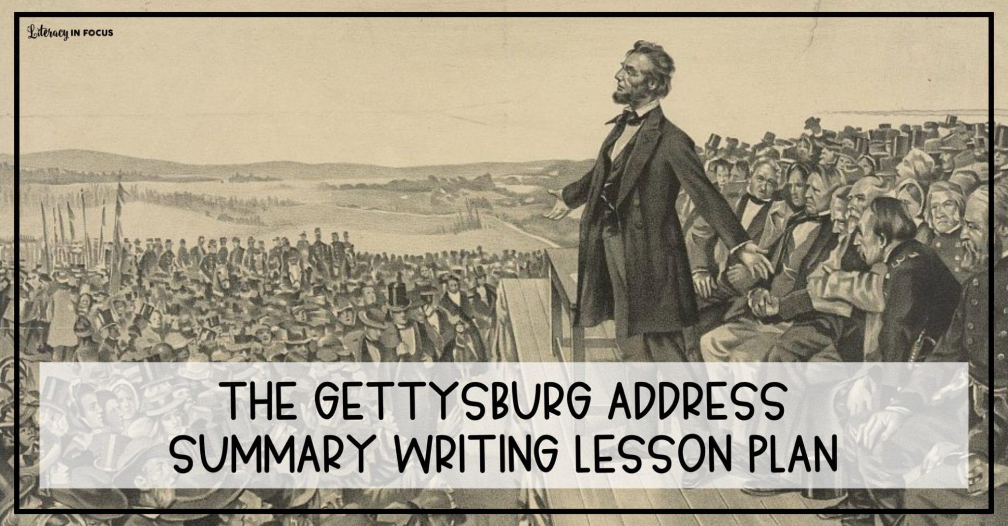 Gettysburg Address Lesson Plan