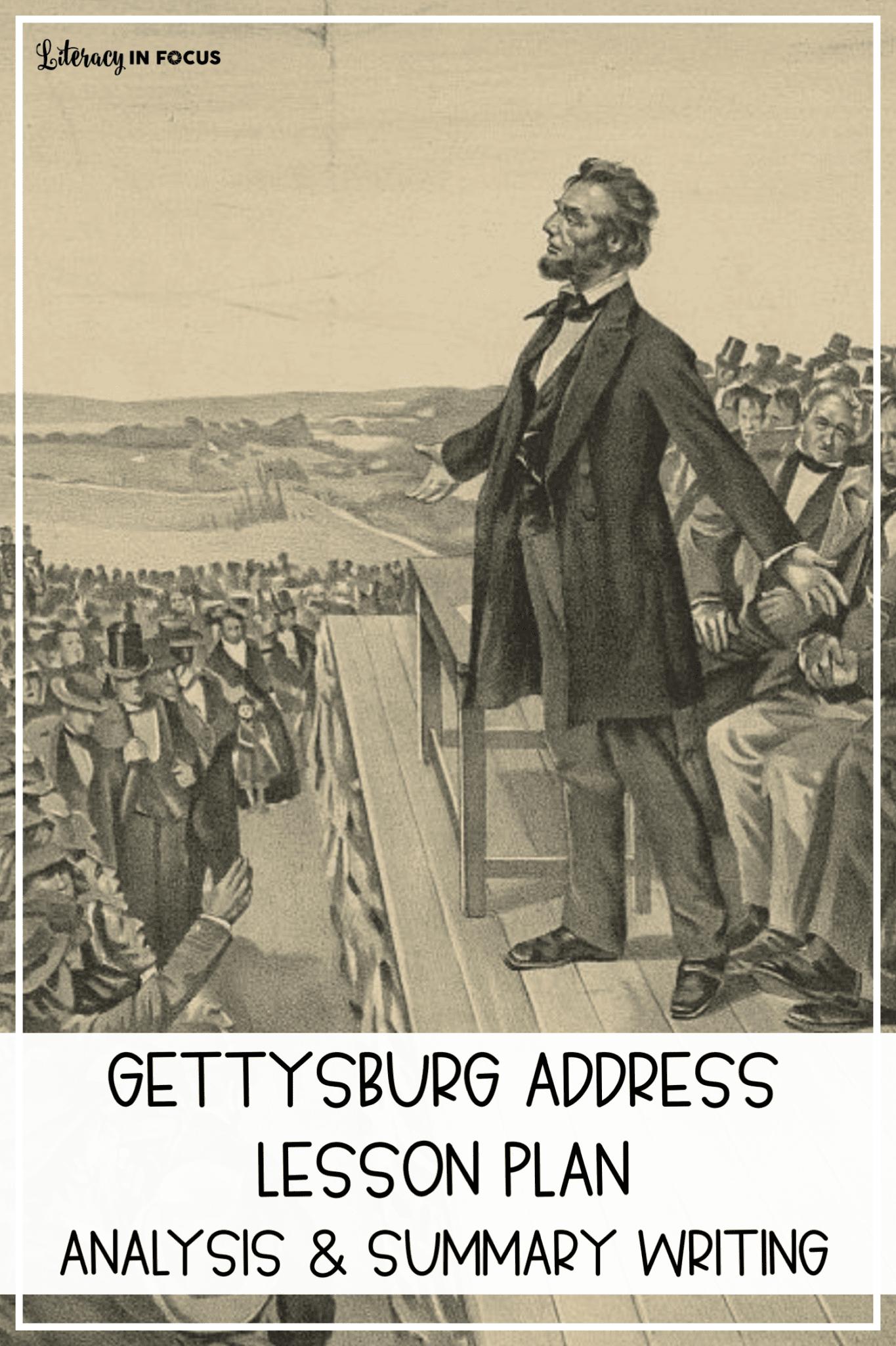 Gettysburg Address Lesson Plan 5th-8th Grade