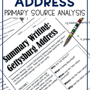 Gettysburg Address Primary Source Analysis