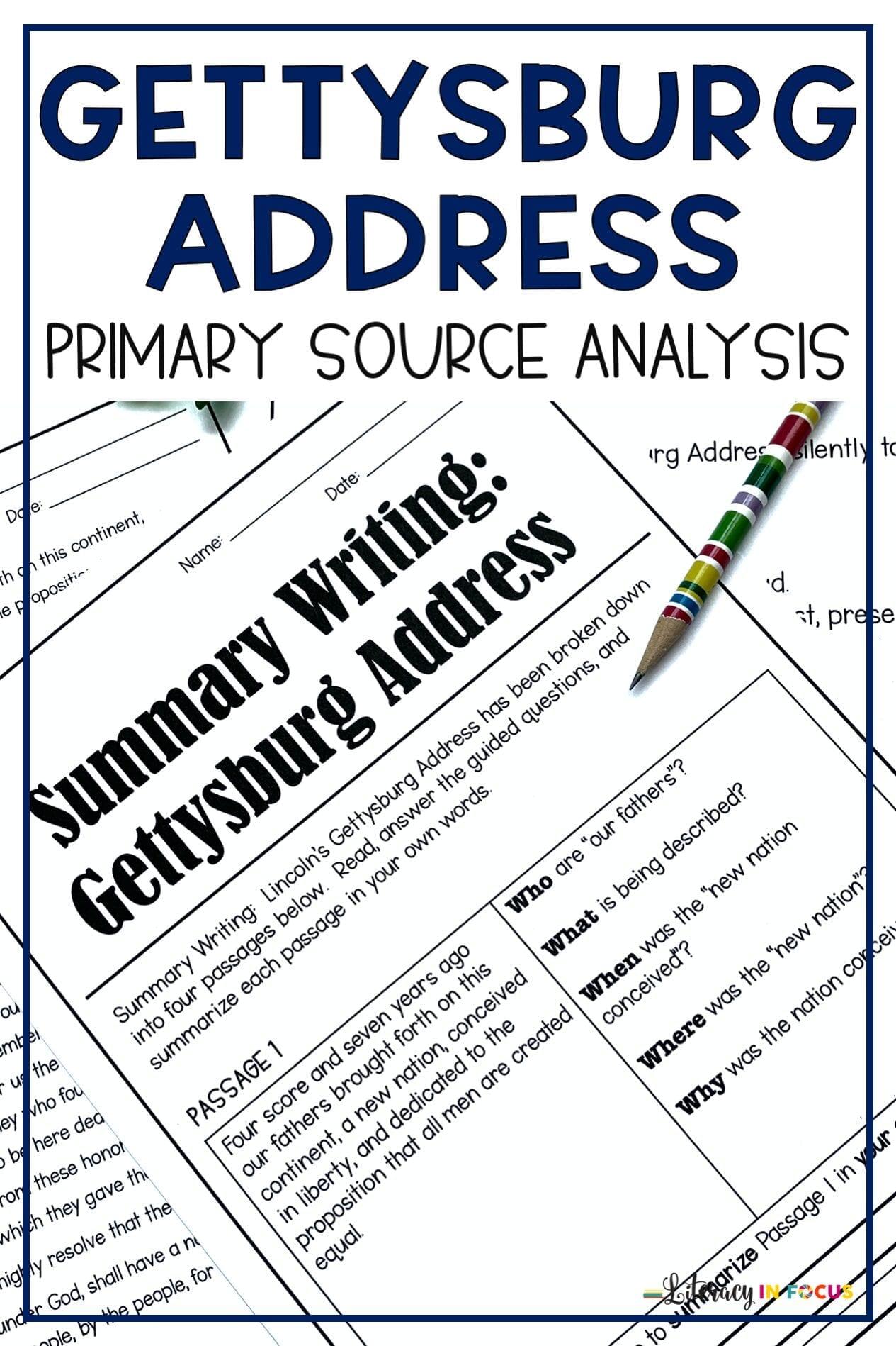 Gettysburg Address Primary Source Analysis