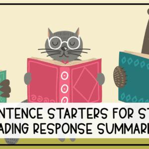 Reading Log Sentence Starters