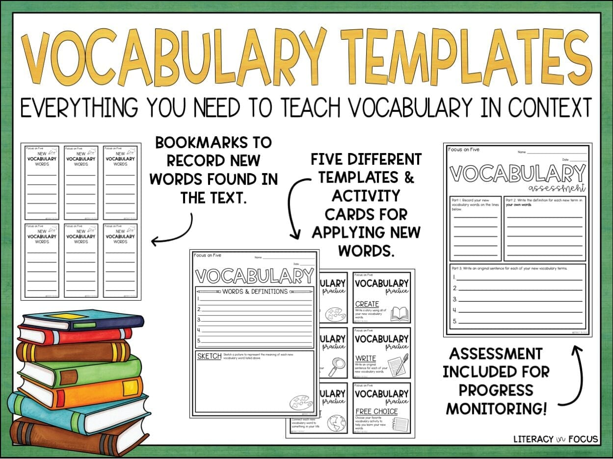 Printable Vocabulary Activities and Worksheets