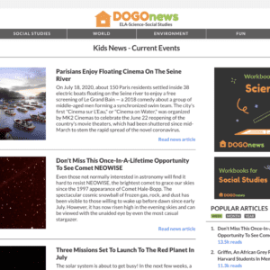 Free current events website for students