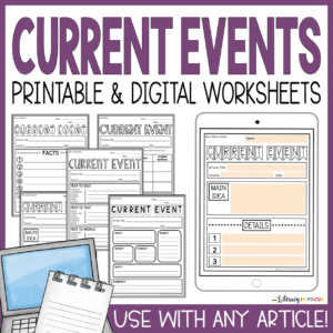 Current Events Worksheets for Students