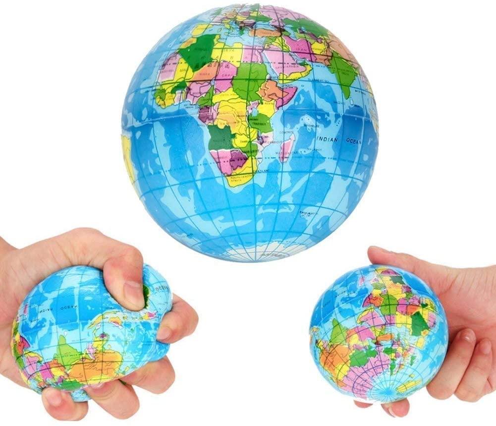 globe squeeze balls