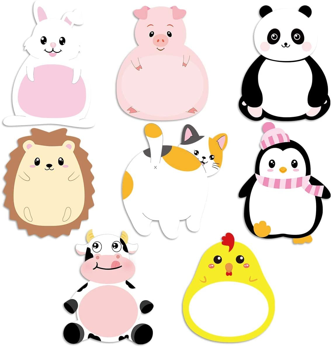 animal sticky notes