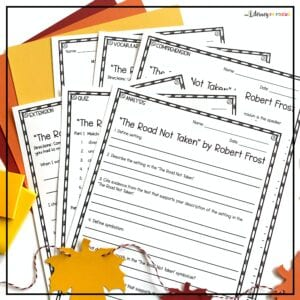 The Road Not Taken Analysis Worksheets