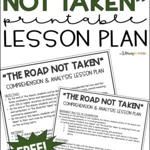 ROAD NOT Taken printable free lesson plan