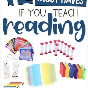 Reading Teacher Supply List