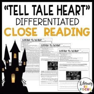 Tell Tale Heart Edgar Allan Poe Close Reading Activity