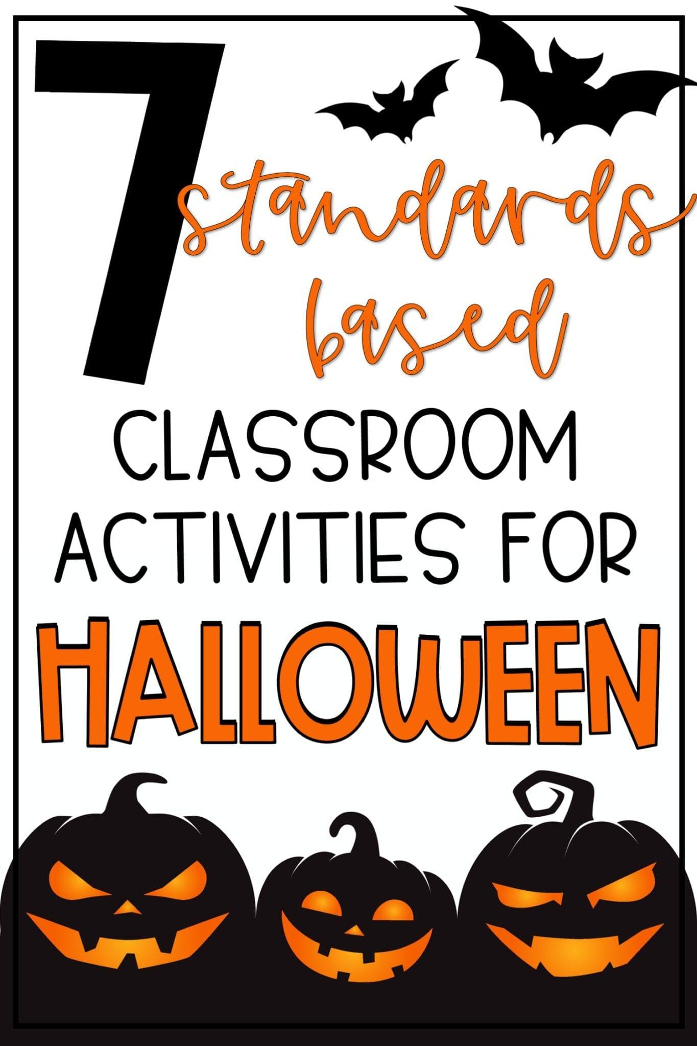 Upper Elementary Classroom Activities for Halloween