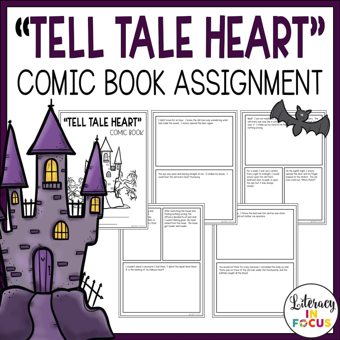 Tell Tale Heart Summary Comic Book