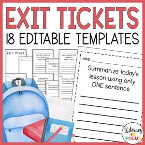 Editable Exit Slips for All Subjects