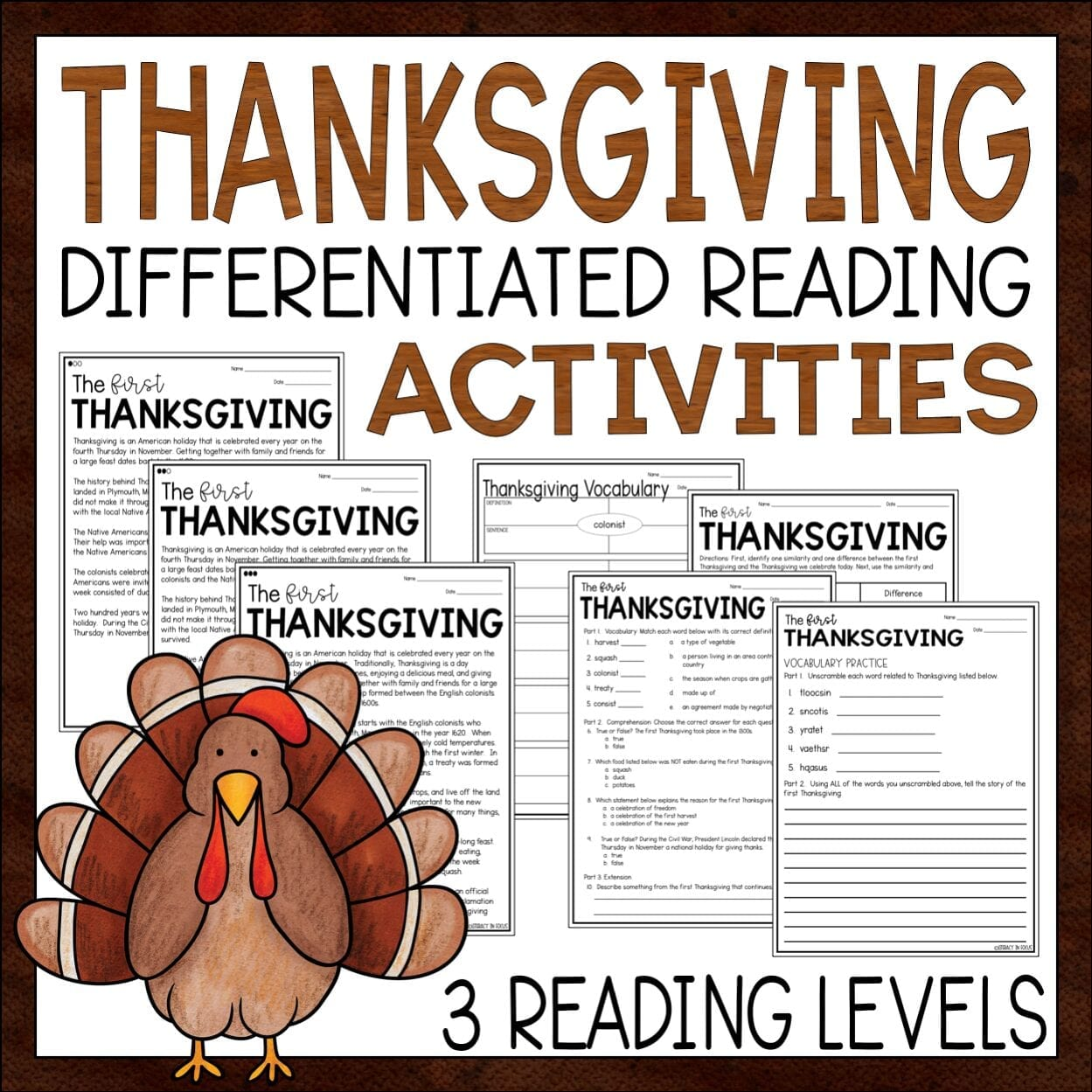 Thanksgiving Reading Passages and Questions
