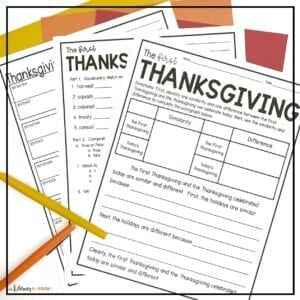 Thanksgiving History Close Reading