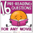 Novel Pre-Reading Questions for Upper Elementary and Middle School