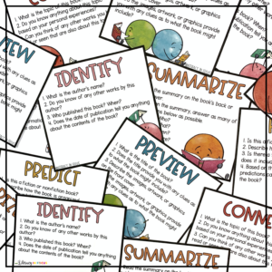 Novel PreReading Task Cards for Middle School