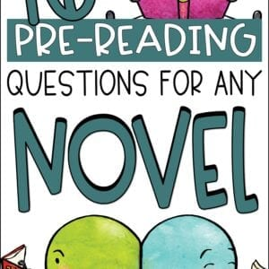 PreReading Activity and Questions for Any Novel
