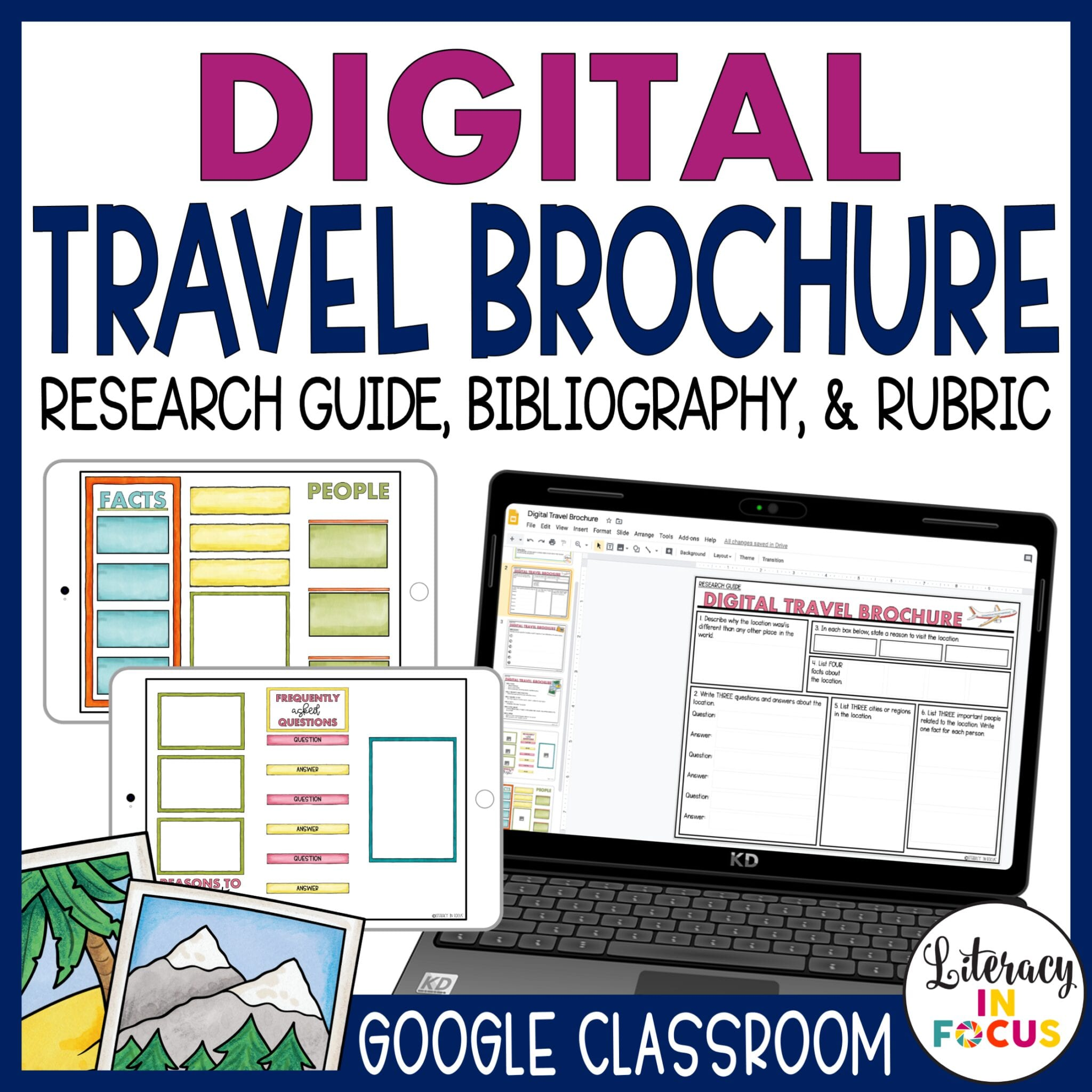 Digital Travel Brochure for Google Classroom