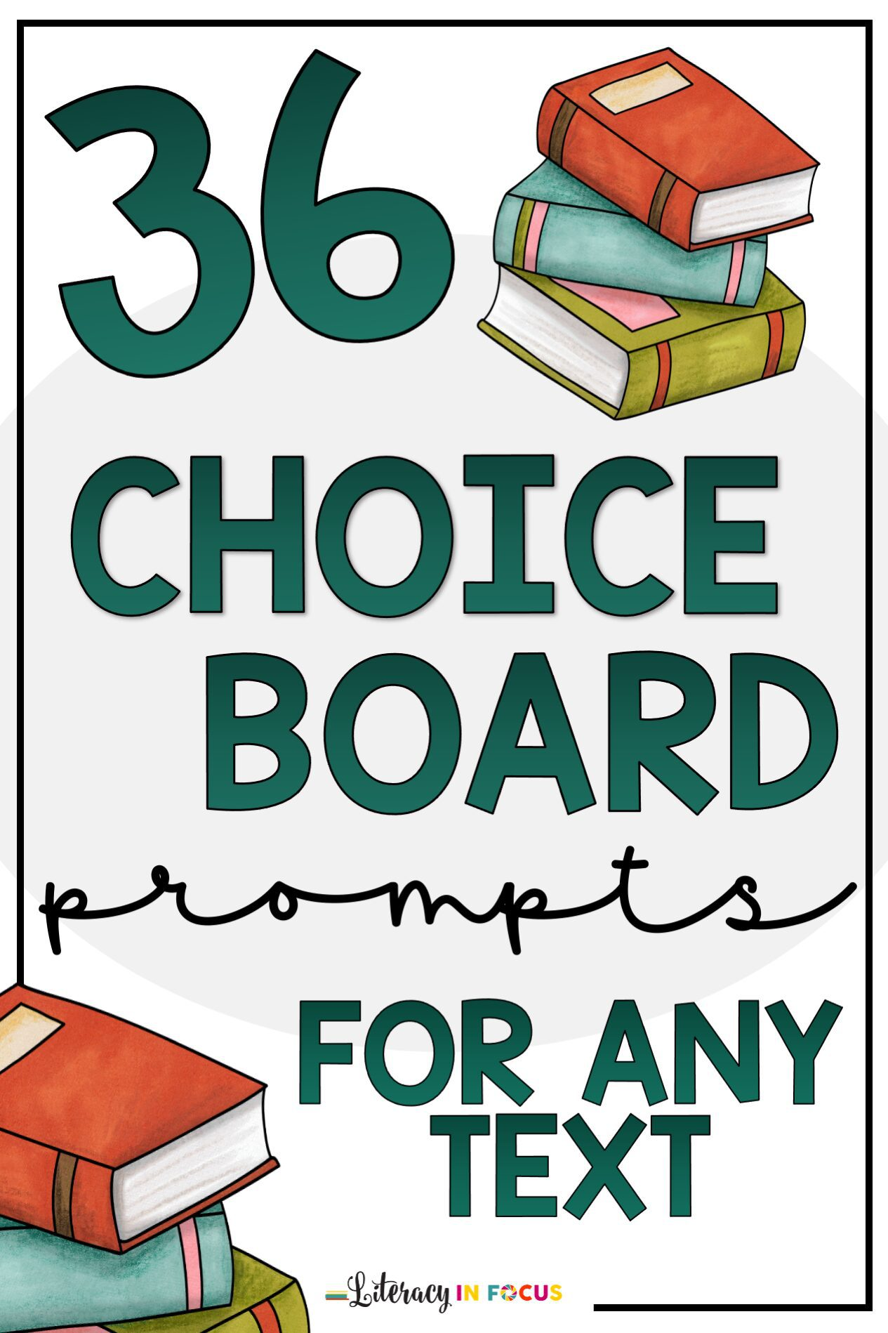 36 Choice Board Prompts for Any Texts