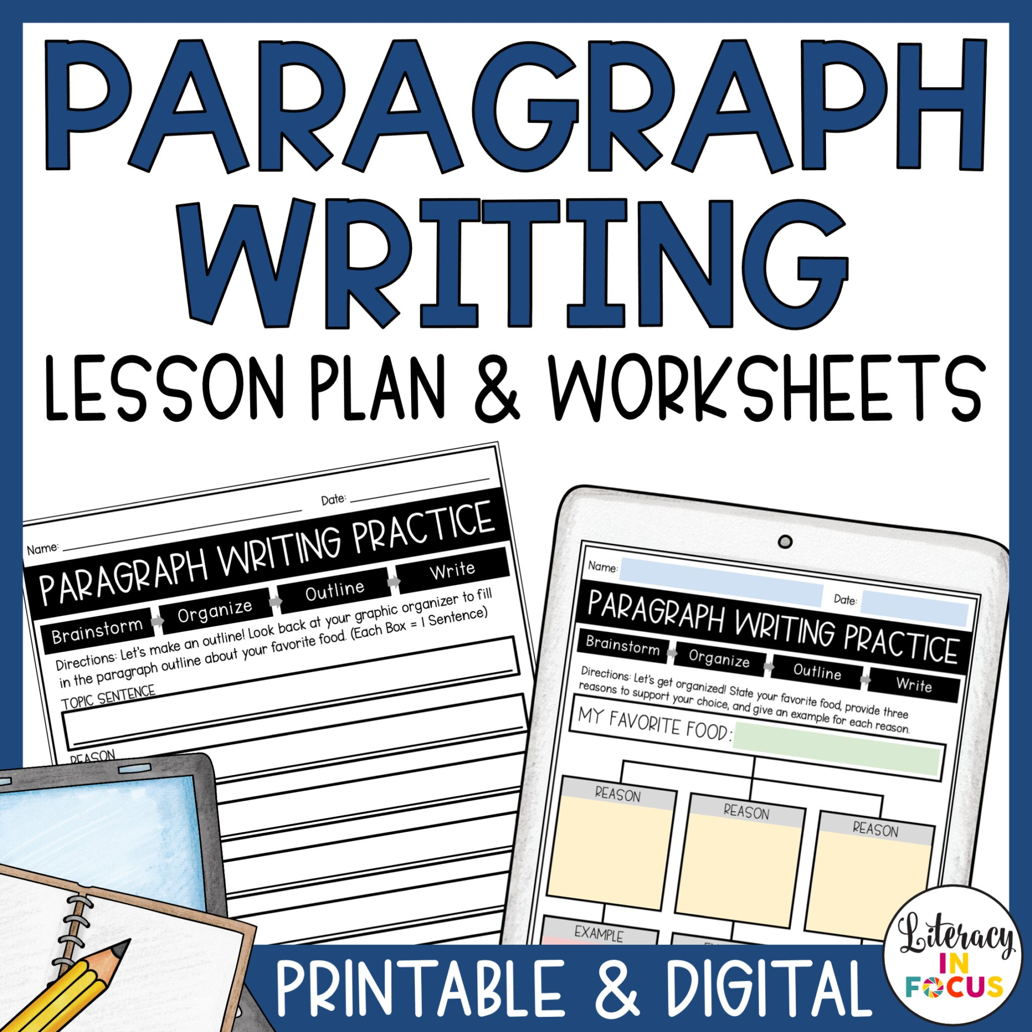 Paragraph Writing Lesson Plan and Worksheets